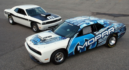 Drag races and street races are popular dodge challenger drag racing