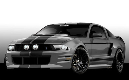 Ford Mustang by Forgiato Wheels mustang sema 1